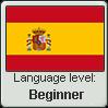 Spanish language level BEGINNER