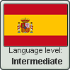 Spanish language level INTERMEDIATE