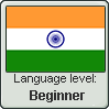 Hindi language level BEGINNER by TheFlagandAnthemGuy