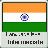 Hindi language level INTERMEDIATE by TheFlagandAnthemGuy