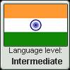 Hindi language level INTERMEDIATE by TheFlagandAnthemGuy