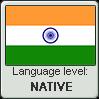 Hindi language level NATIVE by TheFlagandAnthemGuy