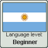 Argentinian Spanish language level BEGINNER by TheFlagandAnthemGuy