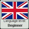 British English language level BEGINNER