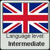 British English language level INTERMEDIATE