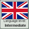 British English language level INTERMEDIATE