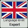 British English language level EXPERT