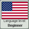 American English language level BEGINNER