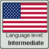 American English language level INTERMEDIATE