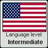 American English language level INTERMEDIATE