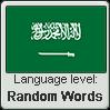 Saudi Arabic language level RANDOM WORDS by TheFlagandAnthemGuy
