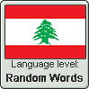 Lebanese Arabic language level RANDOM WORDS by TheFlagandAnthemGuy