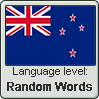 New Zealand English language level RANDOM WORDS by TheFlagandAnthemGuy