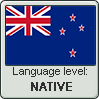 New Zealand English language level NATIVE by TheFlagandAnthemGuy