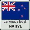 New Zealand English language level NATIVE by TheFlagandAnthemGuy
