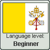 Ecclesiastic Latin language level BEGINNER