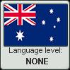 Australian English language level NONE by TheFlagandAnthemGuy