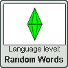 THE SIMS language level RANDOM WORDS by TheFlagandAnthemGuy