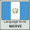 Guatemalan Spanish language level NATIVE