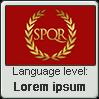 Latin language level LOREM IPSUM