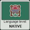 Western Abenaki language level NATIVE