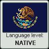Spanglish language level NATIVE