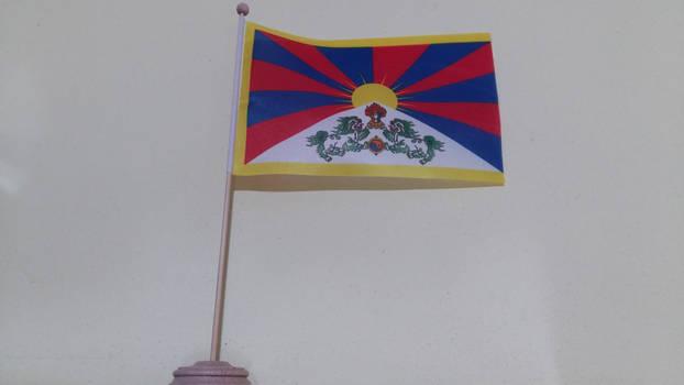 Tibet (1912-1951) table flag