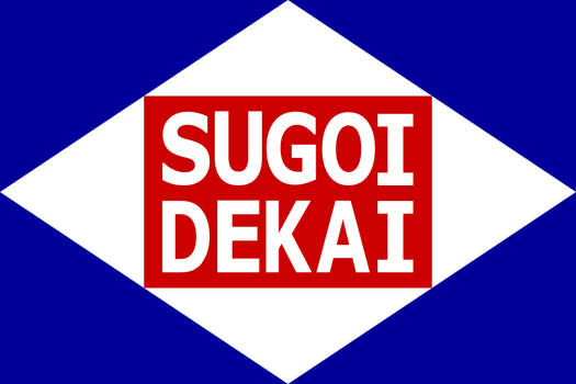 Sugoi Dekai fanservice flag variant 1