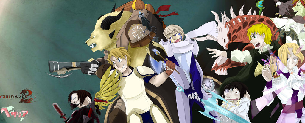 Guild Wars 2 Anime Characters : Guild wars hetalia crossover by skay on deviantart