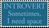Introvert Stamp by ZiraDakota