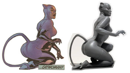 Catwoman side by side by AlfredParedes