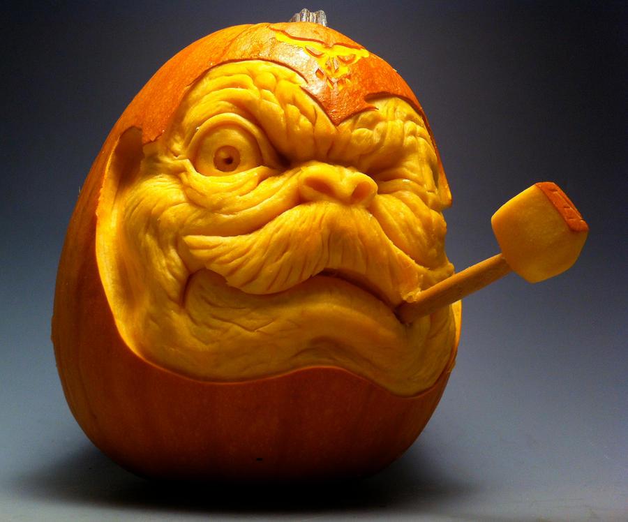 Baron Alfons Von Pumpkin Face by AlfredParedes