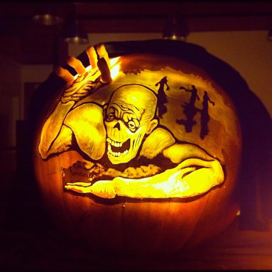 300 pound pumpkin zombie by alfredparedes on deviantart