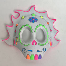 Day of the Dead mask - painted half mask by AlfredParedes