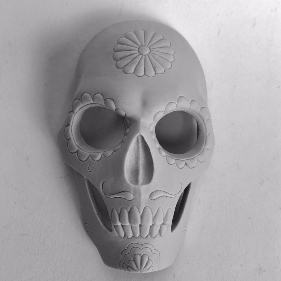 Day of the Dead mask - unpainted full mask by AlfredParedes