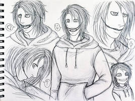 Doodle Jeff the killer by Smokertongas-arts