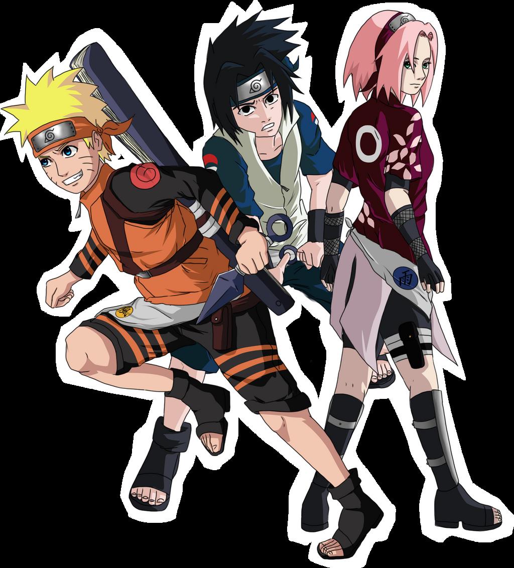 Naruto   Team Seven Tellemicus by CeliousNaruto Team 8