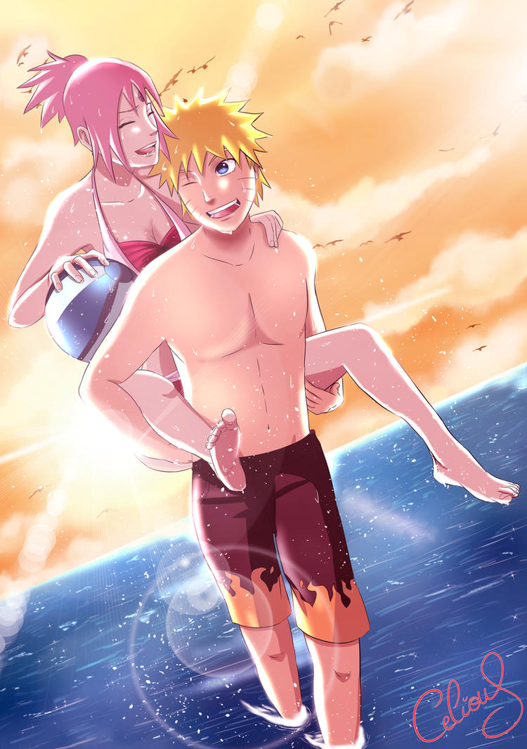 Naruto : Beach fun by Celious