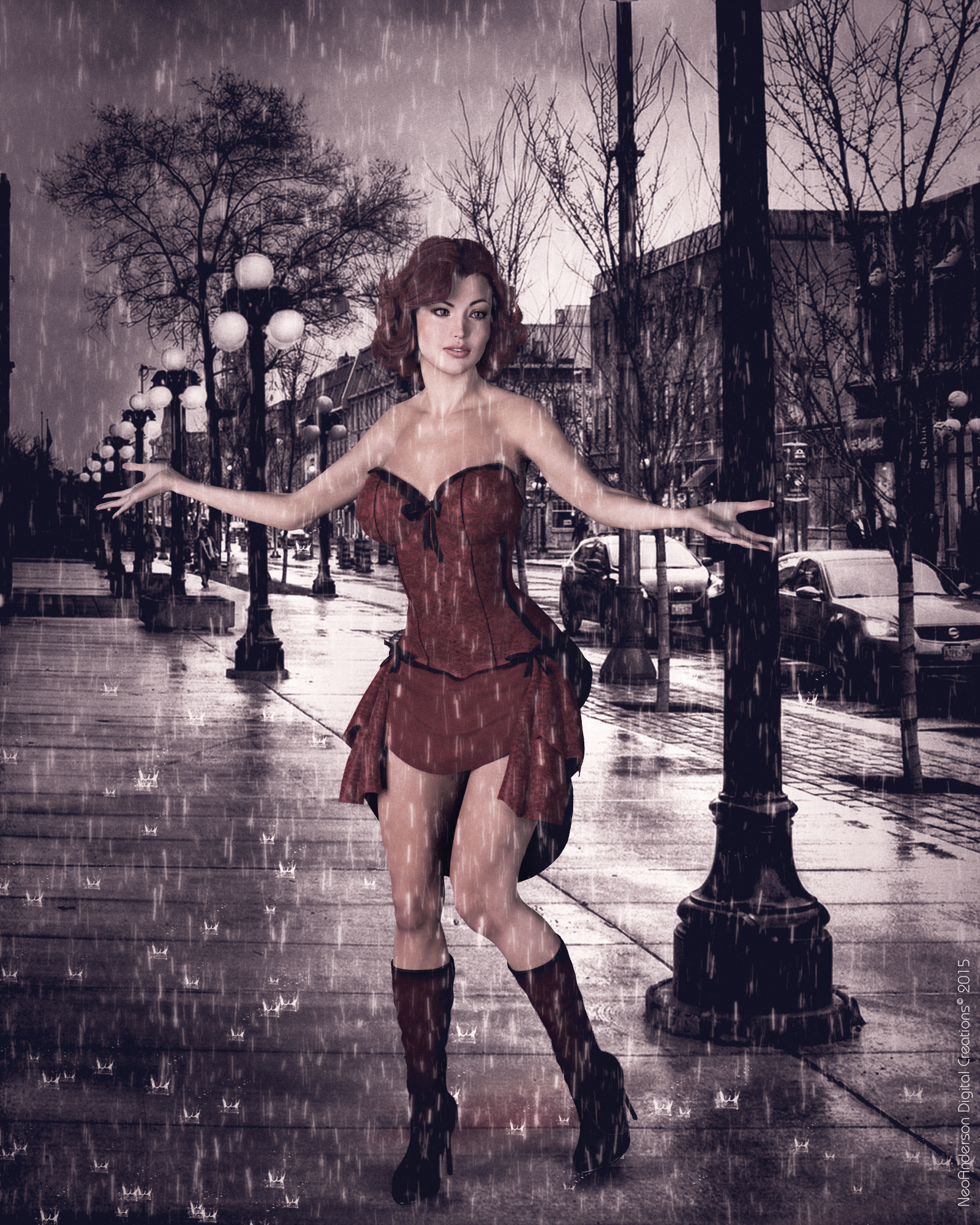 Dancing In The Rain (Updated Desaturated) By Neoanderson79