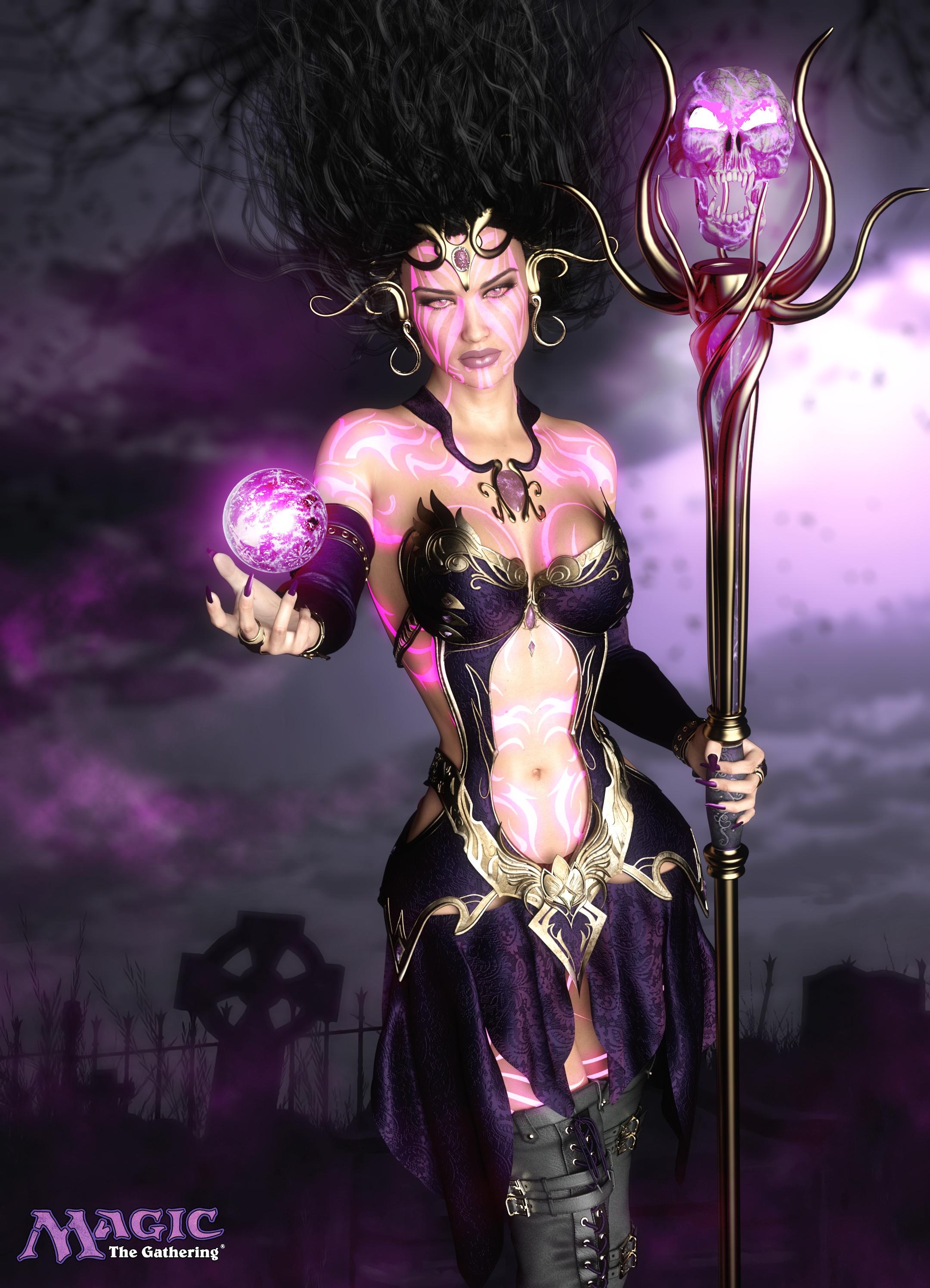 Liliana Vess by Vilenko - Magic the Gathering FanArt