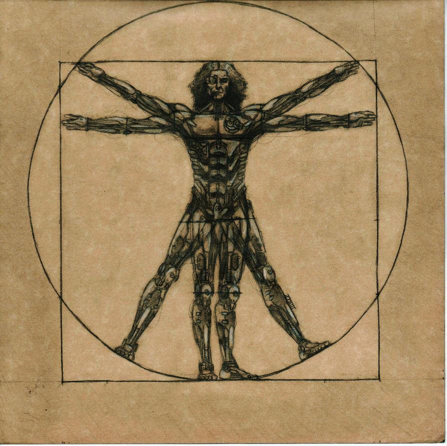 Leonardo Da Vinci\'s\' \'Vitruvian Man (Stea by ArtIsEvil on DeviantArt