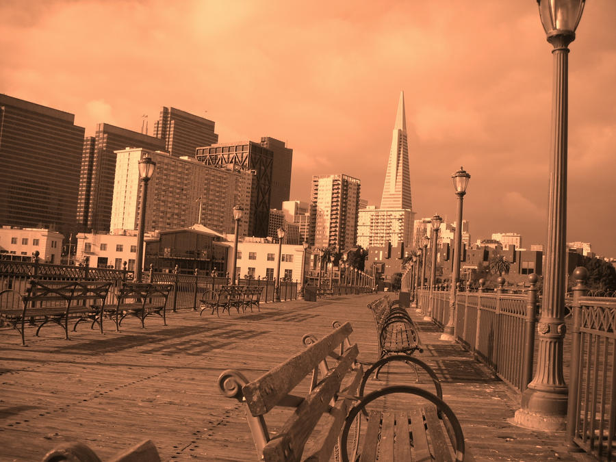 Sepia San Franciscan Pier by Jiyae