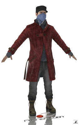 .Aiden Pearce--Blood Stain (Rarefacer Front Render