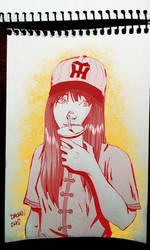 Baseball fan Mariko by kennydalman