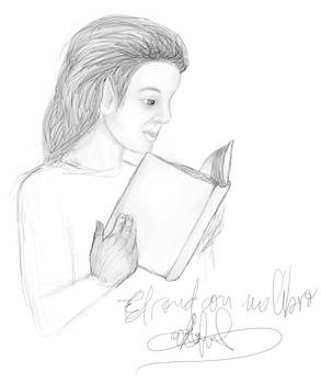 Elrond with a book