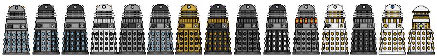 Classic Daleks by Stuart1001