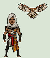 Bayek and Senu (Assassin's Creed Origins) by Stuart1001