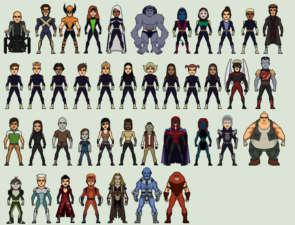 X Men Evolution Characters Profiles X-men Evolution by Stu...