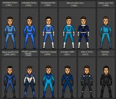 Evolution of Mr Fantastic (media)