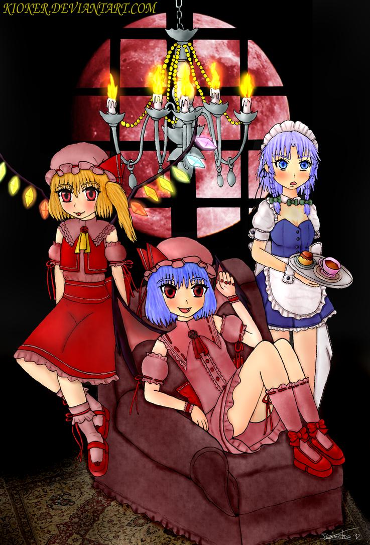 Scarlet and Sakuya - Ilustracion 4 - Reto Touhou by kioker